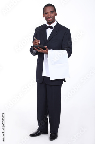 Waiter taking an order