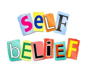 Self belief concept.