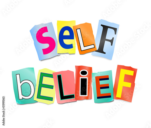Self belief concept.