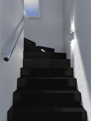 black stairs interior