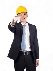 construction executive display namecard
