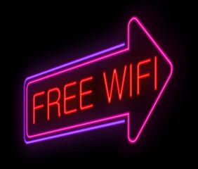 Free wifi concept.