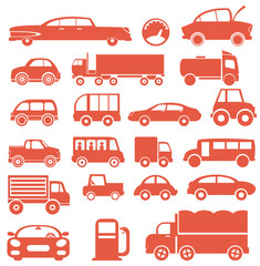 Icon set. Cars