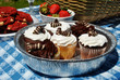 Gourmet Picnic Cupcakes, Cookies and Berries
