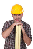 Builder with timber