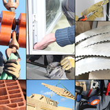 Montage of various aspects of construction