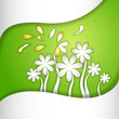 vector illustration of fresh flower against abstract background