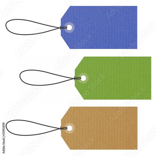 Etiquettes Kraft couleurs