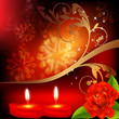 Valentine Background. Red Rose...