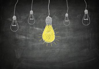 Blackboard idea concept