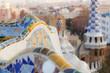 Leinwandbild Motiv Guell Park in Barcelona