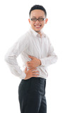 young business man with Backache waist pain