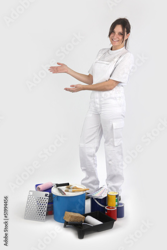Female decorator