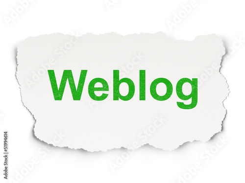 Web design concept: Weblog on Paper background