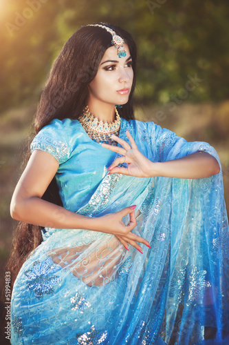 beautiful indian woman bellydancer