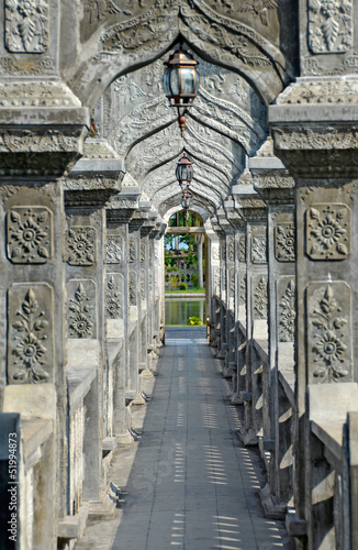 Arch Walkway in Tirtagangga Taman Ujung Water Palace