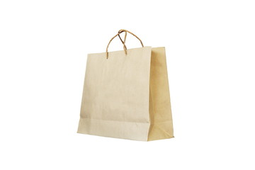 Paper bag,isolated in white background.