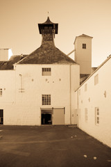 Old fashioned Scottish distillery