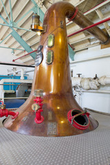 Scottish Whisky distillation still