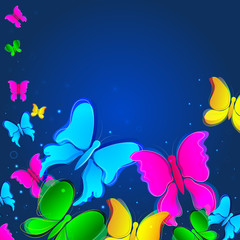 vector illustration of colorful butterfly
