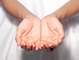 Holding or giving concept