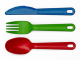 Plastic Cutlery 01 - Multi-Colour
