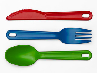Plastic Cutlery 02 - Multi-Colour