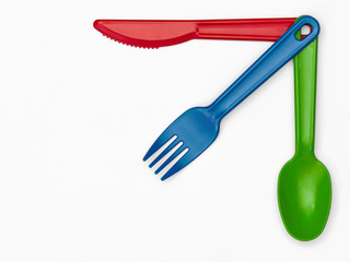 Plastic Cutlery 03 - Multi-Colour