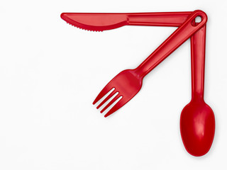 Plastic Cutlery 03 - Red