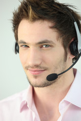Portrait of a man with a headset