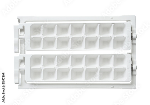 Ice cube tray isolated on white background