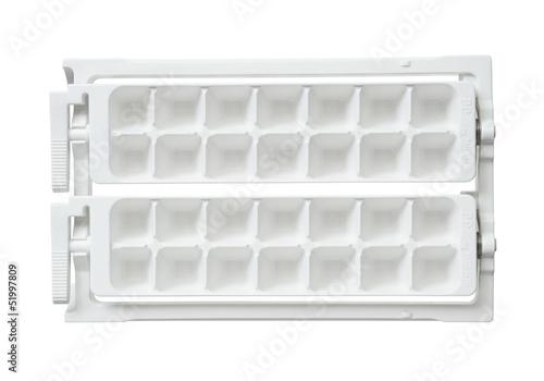 Ice cube tray isolated on white background