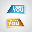 Thank you - Two grateful label - Vector