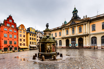 Stortorget in Old City (Gamla Stan), the Oldest Square in Stockh