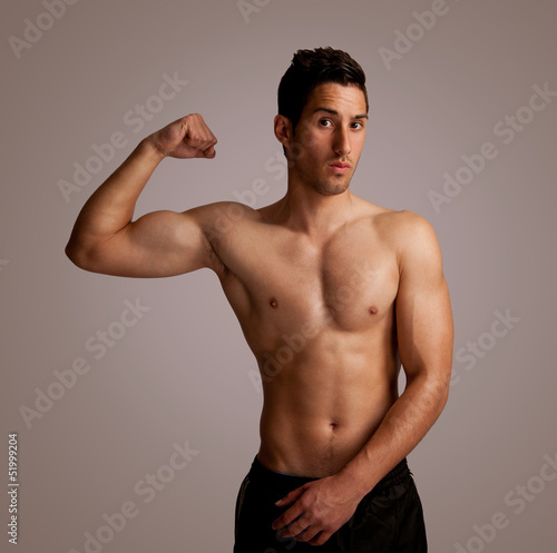 portret of a muscular body
