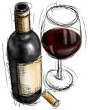 Fototapety Wine Bottle and Glasses