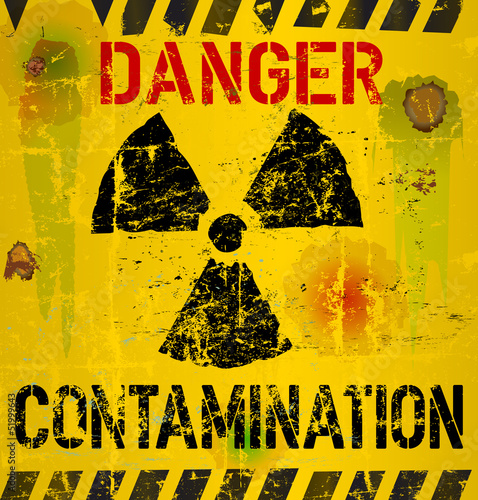 nuclear contamination warning sign, vector illustration