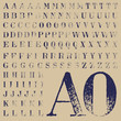 Set of rubber stamp bodoni characters 2