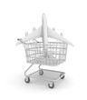 Plane in shopping cart