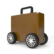 Luggage with big wheels