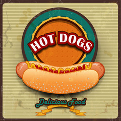 Hot Dogs Vintage