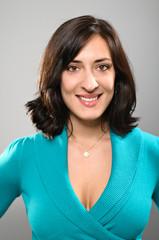 Latina Woman Smiling Portrait