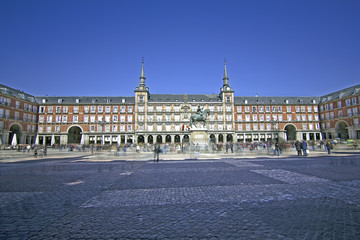 main square of Mdrid - Plaza Mayor, Spain.Hig sposition