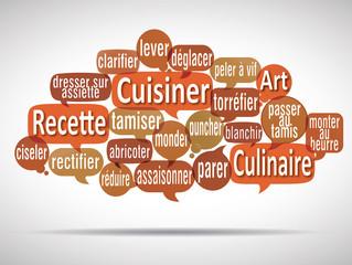 nuage de mots bulles : vocabulaire de cuisine 3