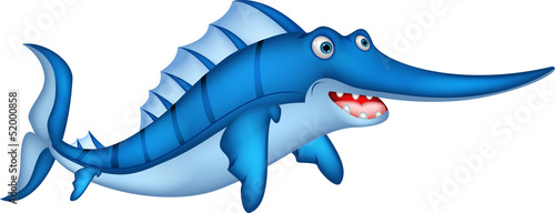 cute Cartoon swordfish