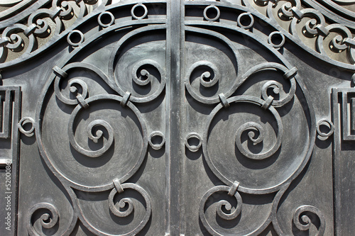 Wrought iron hand made door