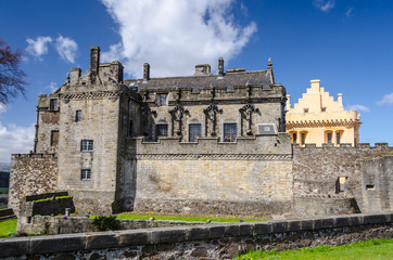 Royal Palace with the Great Hall at Stirling Castle in Stirling,