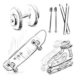 Sport stuff icon set
