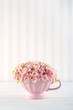 Decorative pink hydrangea flowers