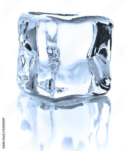 Ice cube isolated on white background cutout